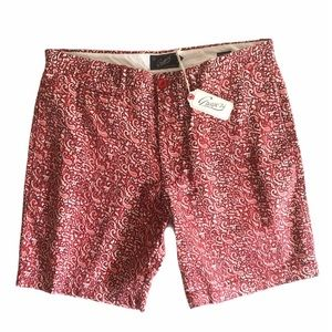 Grayers Flat Front Cotton Paisley Shorts Sz 36